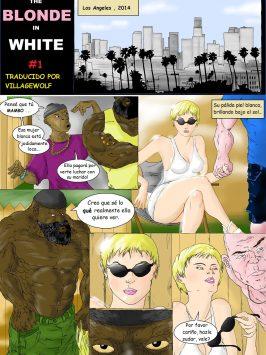 La rubia de blanco