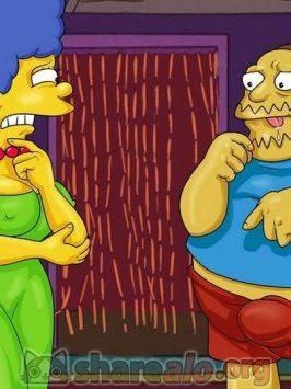 Marge y el gordo de los comics