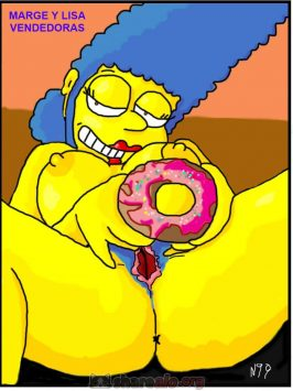 Marge y Lisa vendedoras de donas