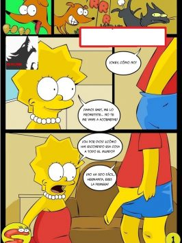 bart homer y lisa simpson cojiendo